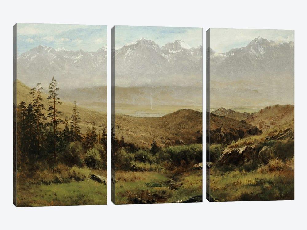 In the Foothills of the Rockies  by Albert Bierstadt 3-piece Canvas Art
