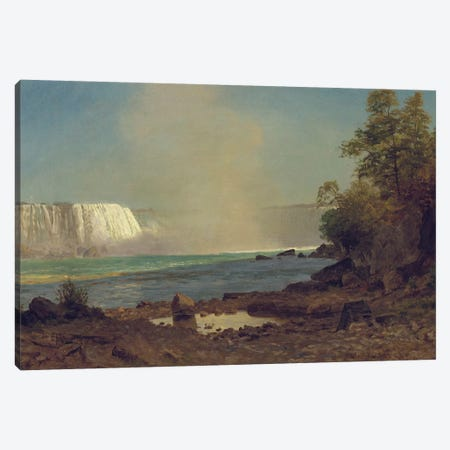 Niagara Falls, 1863  Canvas Print #BMN5449} by Albert Bierstadt Canvas Art Print