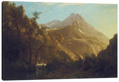 Wasatch Mountains by Albert Bierstadt Canvas Art