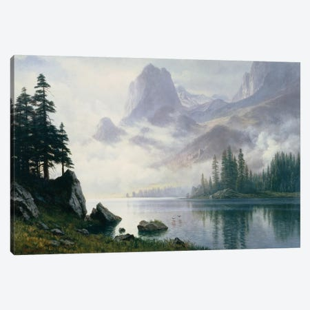 Mountain out of the Mist  Canvas Print #BMN5451} by Albert Bierstadt Canvas Art