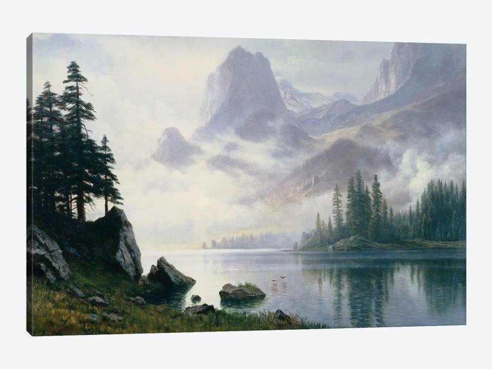 Mountain out of the Mist  by Albert Bierstadt 1-piece Canvas Art