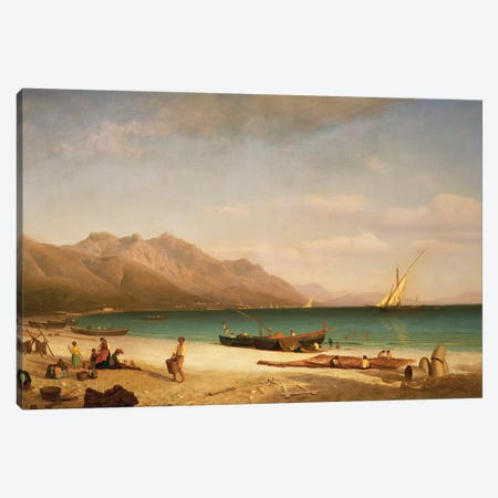 Bay of Salerno, 1858  Canvas Print #BMN5452} by Albert Bierstadt Canvas Art