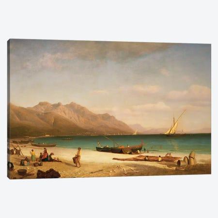 Bay of Salerno, 1858  Canvas Print #BMN5452} by Albert Bierstadt Canvas Art