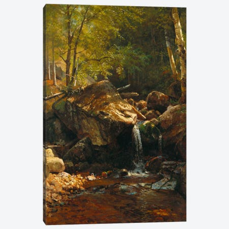 Thompson Cascade, White Mountains  Canvas Print #BMN5453} by Albert Bierstadt Canvas Art