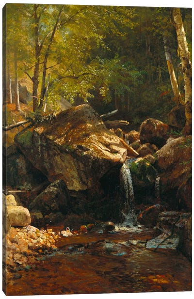 Thompson Cascade, White Mountains by Albert Bierstadt Canvas Art