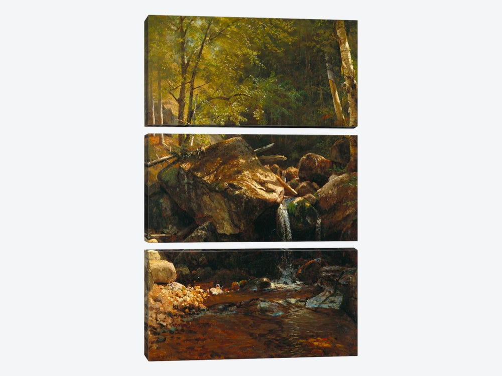 Thompson Cascade, White Mountains 3-piece Canvas Art