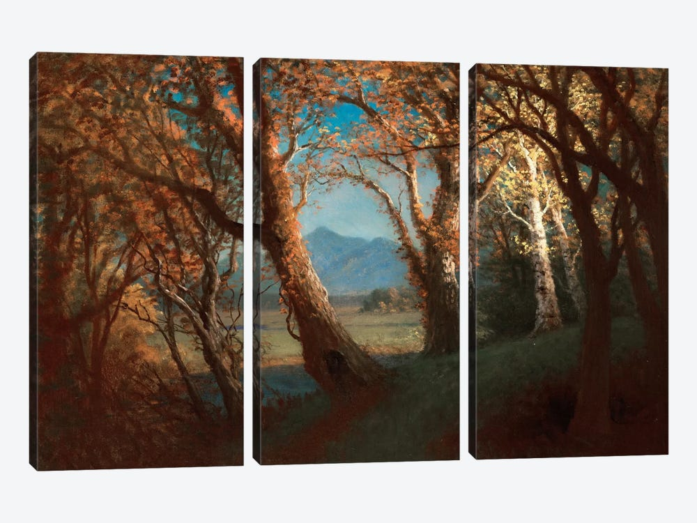 Sunset in the Nebraska Territory by Albert Bierstadt 3-piece Canvas Art Print
