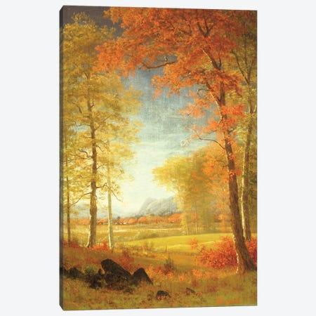Autumn in America, Oneida County, New York  Canvas Print #BMN5455} by Albert Bierstadt Canvas Art Print