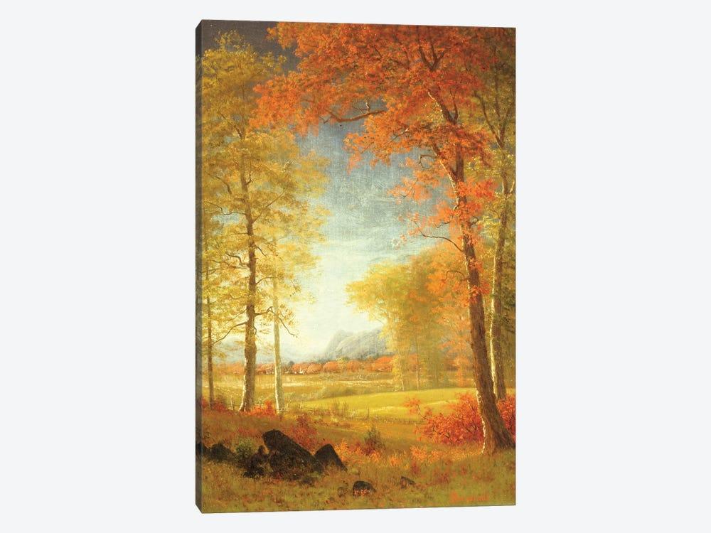 Autumn in America, Oneida County, New York  by Albert Bierstadt 1-piece Canvas Art