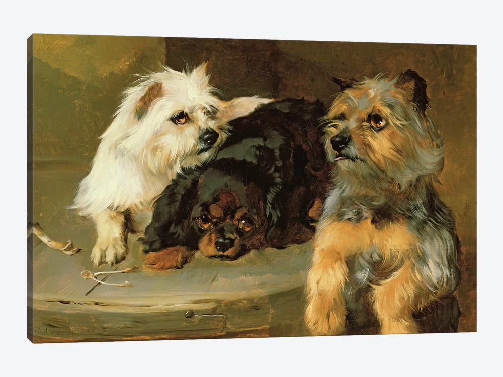 Give a Poor Dog a Bone by George Wiliam Horlor 1-piece Canvas Art