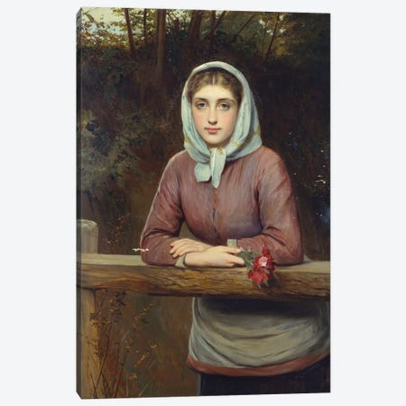 The Rendez-Vous, 1881  Canvas Print #BMN5460} by Charles Sillem Lidderdale Canvas Print