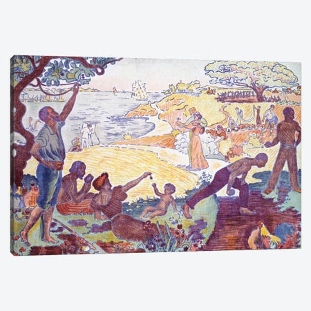 Time of Harmony, 1895-96  Canvas Print #BMN5463} by Paul Signac Canvas Print