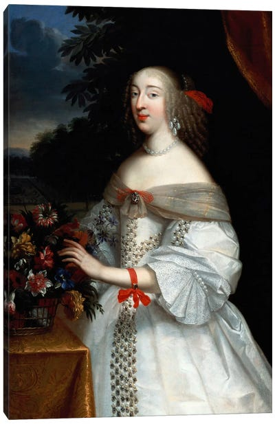 Portrait of Anne Marie Louise, Duchesse d'Orleans  Canvas Art Print