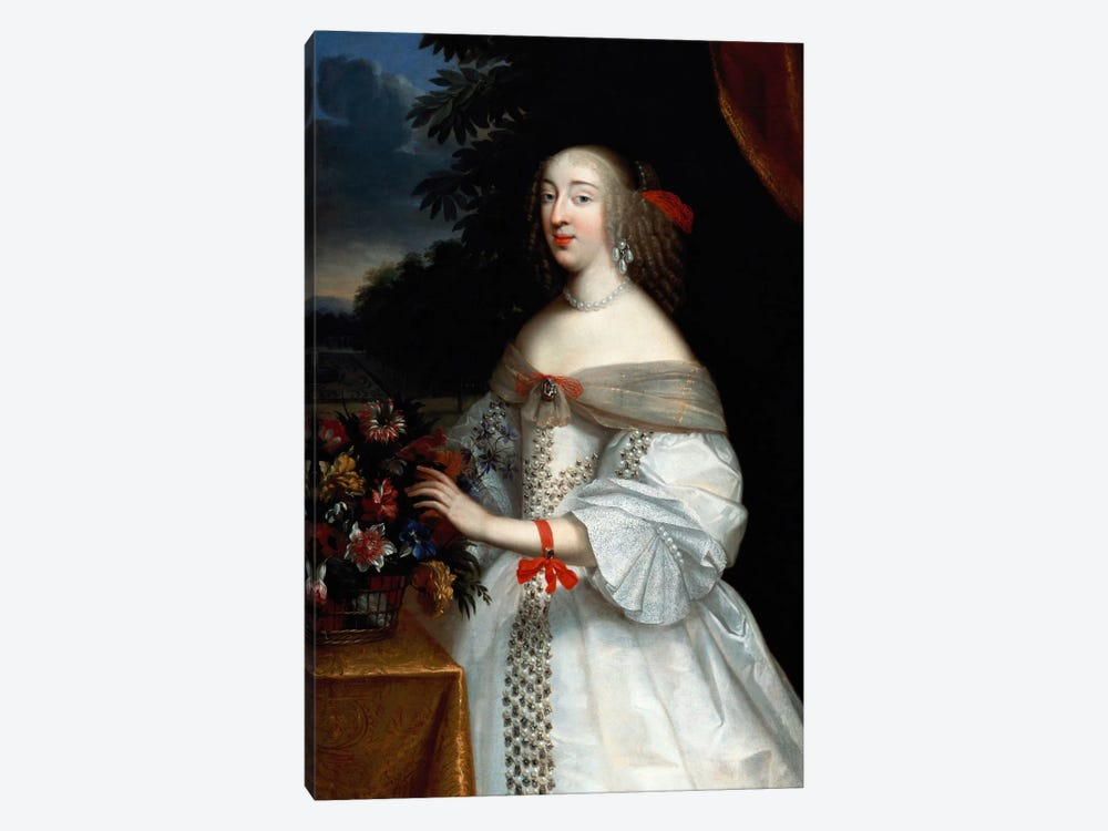Portrait of Anne Marie Louise, Duchesse d'Orleans  by Charles Beaubrun 1-piece Canvas Art Print