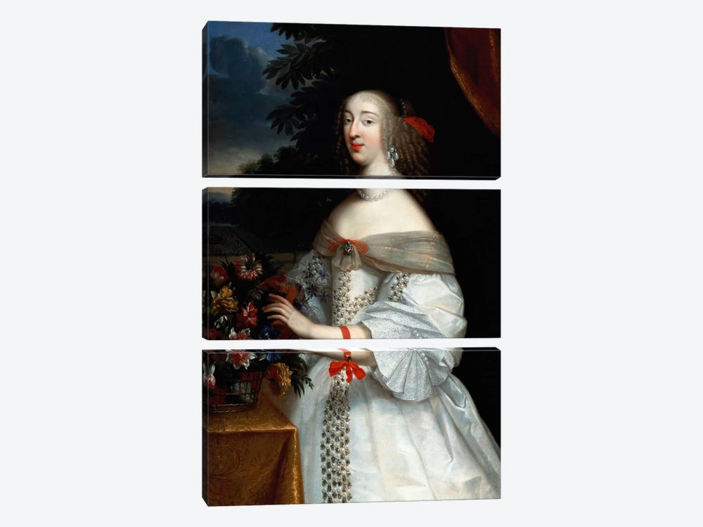 Portrait of Anne Marie Louise, Duchesse d'Orleans  by Charles Beaubrun 3-piece Art Print