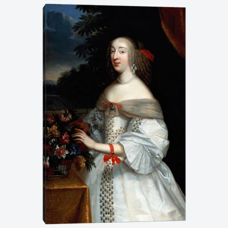 Portrait of Anne Marie Louise, Duchesse d'Orleans  Canvas Print #BMN5467} by Charles Beaubrun Canvas Wall Art