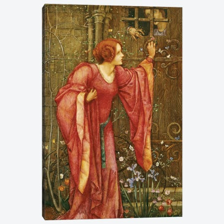 Stone Walls do not a Prison make, nor Iron Bars a Cage'  Canvas Print #BMN5469} by Edward Reginald Frampton Canvas Print