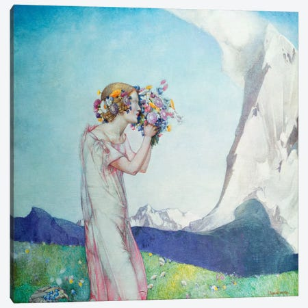 Flora Alpina  Canvas Print #BMN5470} by Edward Reginald Frampton Canvas Artwork