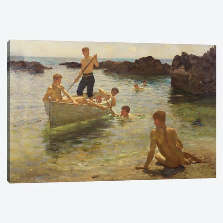 Morning Splendour, 1922  Canvas Print #BMN5473} by Henry Scott Tuke Canvas Wall Art