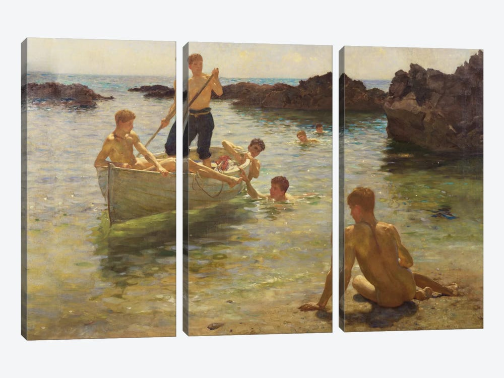 Morning Splendour, 1922  by Henry Scott Tuke 3-piece Canvas Wall Art