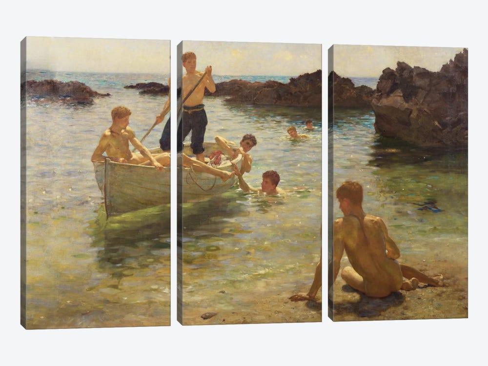 Morning Splendour, 1922  by Henry Scott Tuke 3-piece Canvas Wall Art