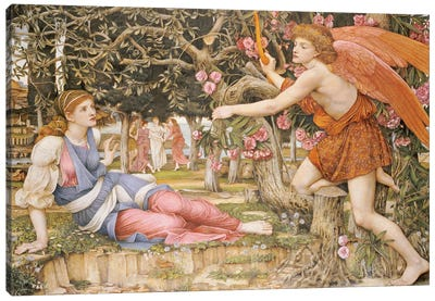 Love and the Maiden, 1877  Canvas Art Print