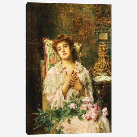 Love Offerings  Canvas Print #BMN5478} by Alexei Alexevich Harlamoff Canvas Wall Art