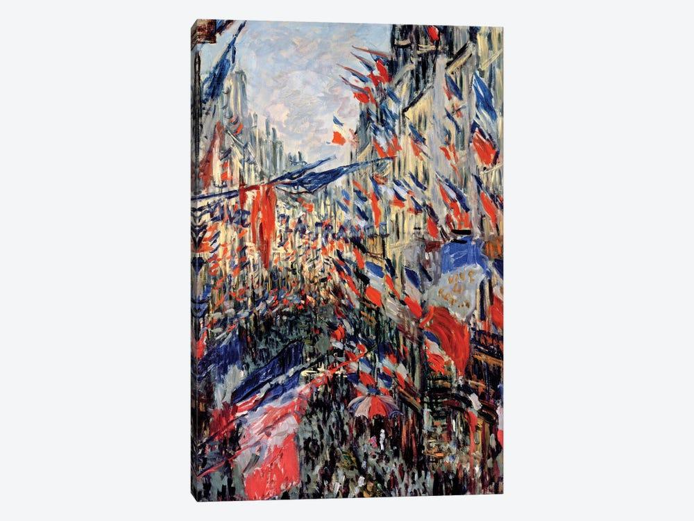 The Rue Saint-Denis, Celebration of June 30, 1878  by Claude Monet 1-piece Canvas Wall Art