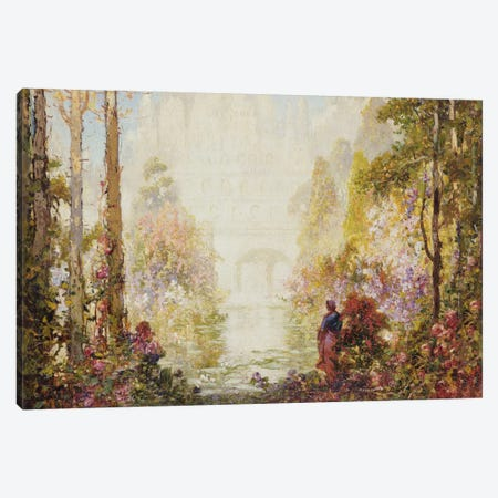 Sita's Garden II  Canvas Print #BMN5484} by Thomas Edwin Mostyn Canvas Wall Art