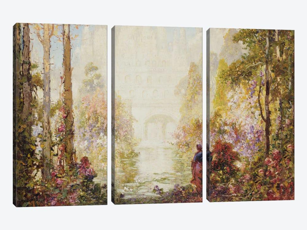 Sita's Garden II  by Thomas Edwin Mostyn 3-piece Canvas Artwork