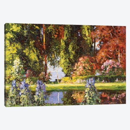 The Garden by the Sea  Canvas Print #BMN5485} by Thomas Edwin Mostyn Canvas Wall Art