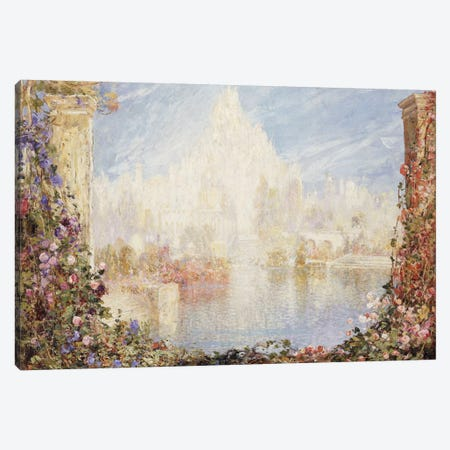Fairyland Castle  Canvas Print #BMN5486} by Thomas Edwin Mostyn Canvas Artwork