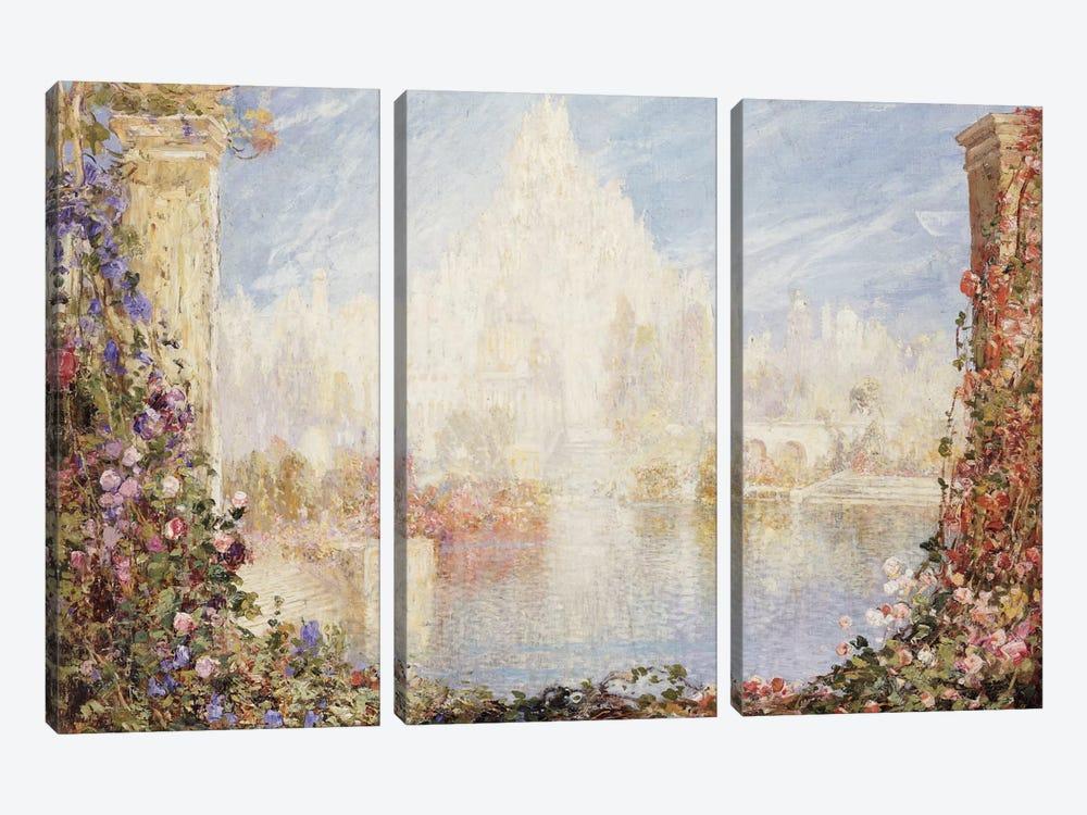 Fairyland Castle  by Thomas Edwin Mostyn 3-piece Canvas Wall Art