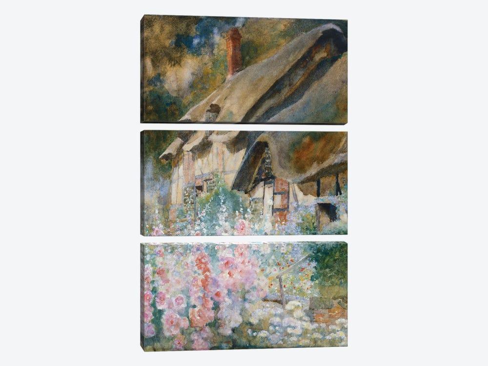Anne Hathaway's Cottage  by David Woodlock 3-piece Canvas Print