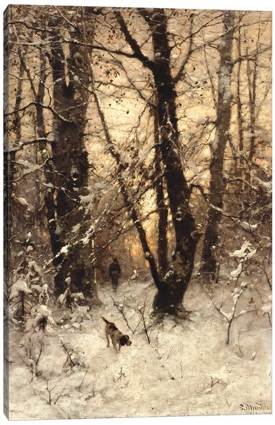 Winter Twilight, 1891  Canvas Art Print