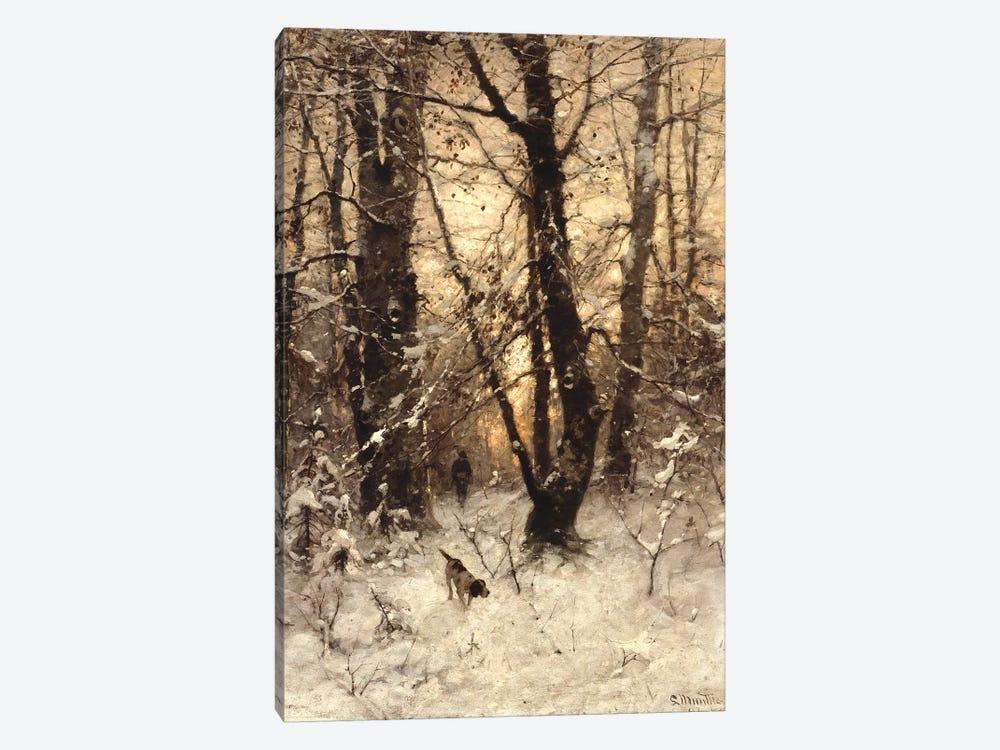 Winter Twilight, 1891  by Ludwig Munthe 1-piece Canvas Art Print