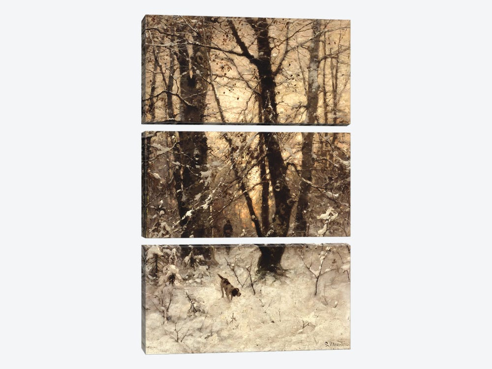 Winter Twilight, 1891  by Ludwig Munthe 3-piece Art Print