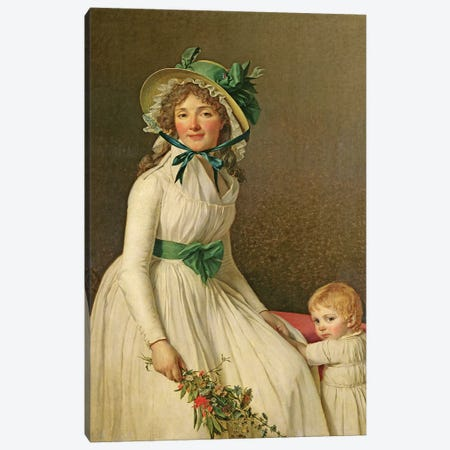 Madame Pierre Seriziat  Canvas Print #BMN548} by Jacques-Louis David Canvas Art Print