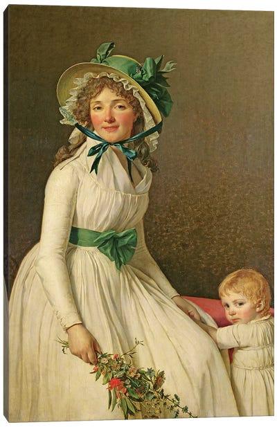 Madame Pierre Seriziat  Canvas Art Print