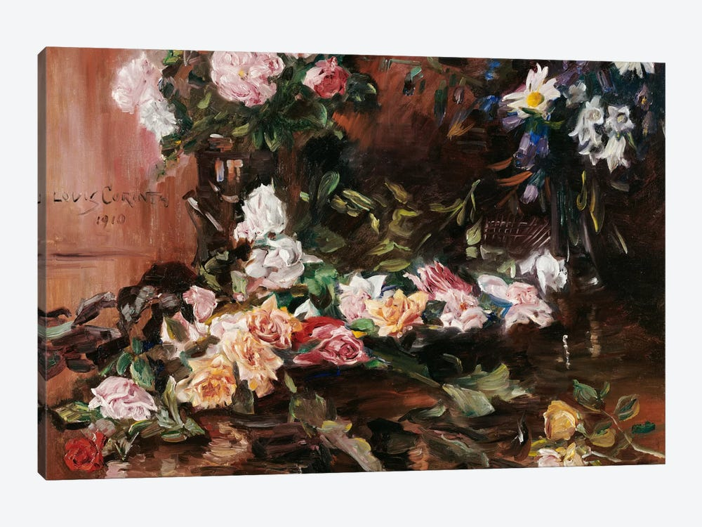 Roses, 1910  by Lovis Corinth 1-piece Canvas Print