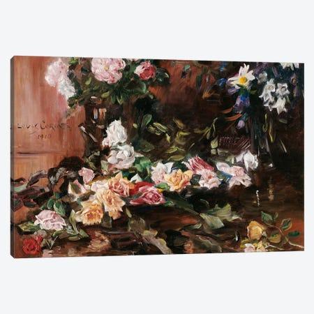 Roses, 1910  Canvas Print #BMN5492} by Lovis Corinth Canvas Artwork