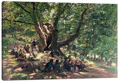 Robin Hood and his Merry Men, 1859  Canvas Art Print