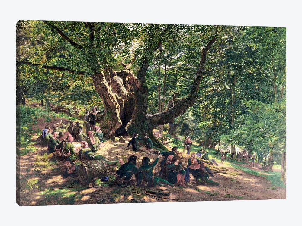 Robin Hood and his Merry Men, 1859 by Edmund George Warren 1-piece Canvas Art