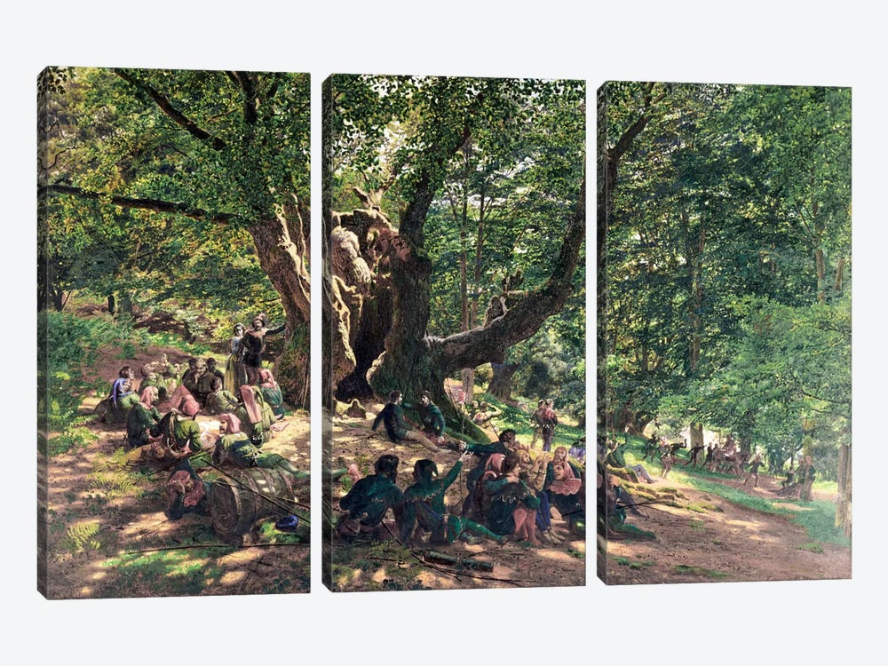 Robin Hood and his Merry Men, 1859 by Edmund George Warren 3-piece Canvas Art