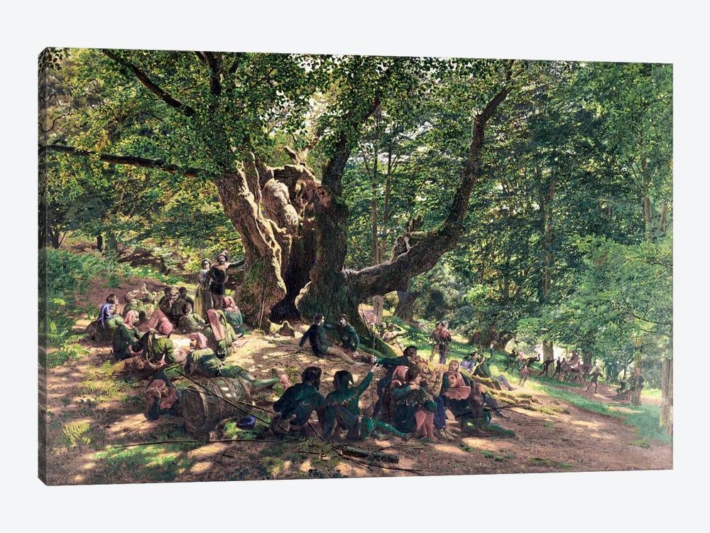 Robin Hood and his Merry Men, 1859  by Edmund George Warren 1-piece Canvas Art