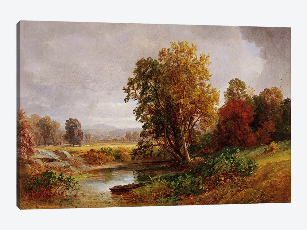 Autumn Landscape, 1882 by Jasper Francis Cropsey 1-piece Canvas Print