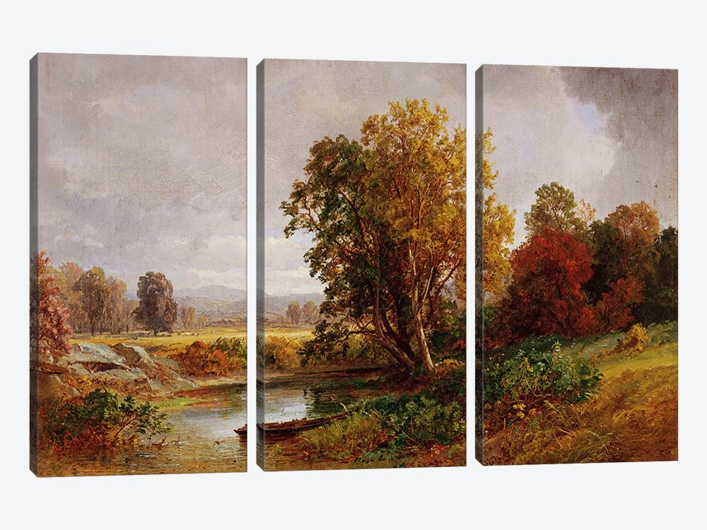 Autumn Landscape, 1882 by Jasper Francis Cropsey 3-piece Canvas Print