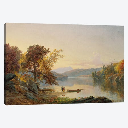 Lake George, 1871  Canvas Print #BMN5499} by Jasper Francis Cropsey Canvas Artwork