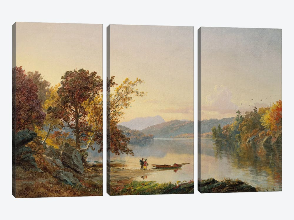 Lake George, 1871  by Jasper Francis Cropsey 3-piece Canvas Artwork