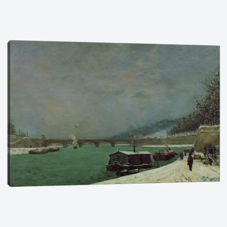 The Seine at the Pont d'Iena, Winter, 1875  Canvas Print #BMN549} by Paul Gauguin Art Print